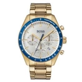 Hugo Boss Herrenuhr Tropy 1513631 Chronograph goldfarben