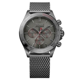 Hugo Boss Ikon Chronograph Uhr Herrenuhr Edelstahl Chrono grau 1513443