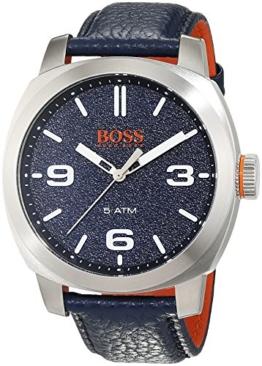 Hugo Boss Orange Cape Town Herren-Armbanduhr Analog mit blauem Leder Armband 1513410 - 1