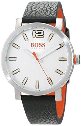 Hugo Boss Orange Herren-Armbanduhr Quarz mit Leder Armband 1550035 - 1