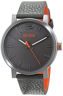 Hugo Boss Orange Herren-Armbanduhr Quarz mit Leder Armband 1550037 - 1