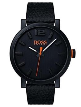 Hugo Boss Orange Herren-Armbanduhr Quarz mit Leder Armband 1550038 - 1