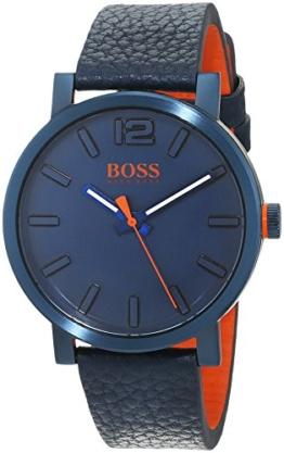 Hugo Boss Orange Herren-Armbanduhr Quarz mit Leder Armband 1550039 - 1