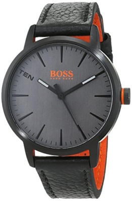 Hugo Boss Orange Herren-Armbanduhr Quarz mit Leder Armband 1550055 - 1