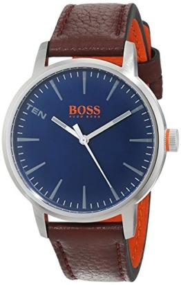 Hugo Boss Orange Herren-Armbanduhr Quarz mit Leder Armband 1550057 - 1