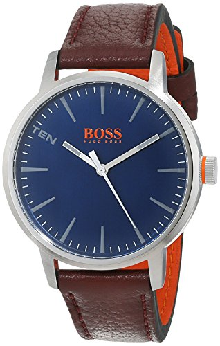 Hugo Boss Orange Herren-Armbanduhr Quarz mit Leder Armband 1550057 - 1