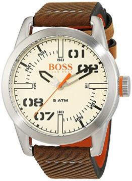 Hugo Boss Orange Oslo Herren-Armbanduhr Quartz mit Leder Armband 1513418 - 1