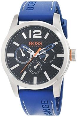 Hugo Boss Orange Paris Herren-Armbanduhr Quartz Analog mit blauem Silikon Armband 1513250 - 1