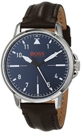 Hugo Boss Orange Unisex-Armbanduhr - Analog Quarz Uhr mit Leder Armband 1550060 - 1