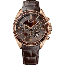 Hugo Boss Quarz-Armbanduhr 1513093 für Herren, Leder,braun - 1
