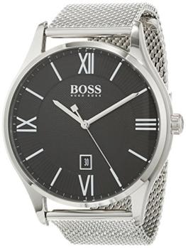 Hugo BOSS Unisex Analog Quarz Uhr mit Edelstahl Armband 1513601 - 1