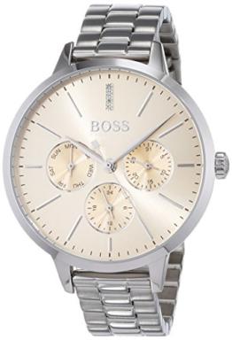 Hugo BOSS Unisex Multi Zifferblatt Quarz Uhr mit Edelstahl Armband 1502421 - 1