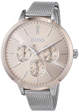 Hugo BOSS Unisex Multi Zifferblatt Quarz Uhr mit Edelstahl Armband 1502423 - 1