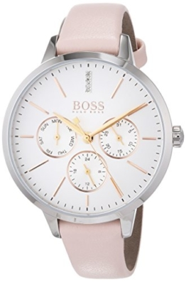 Hugo BOSS Unisex Multi Zifferblatt Quarz Uhr mit Leder Armband 1502419 - 1