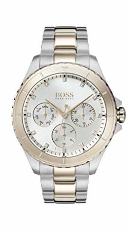 Hugo Boss Watch Damen Multi Zifferblatt Quarz Uhr mit Edelstahl Armband 1502446 - 1