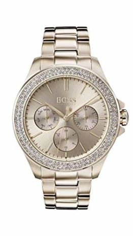 Hugo Boss Watch Damen Multi Zifferblatt Quarz Uhr mit Roségold Armband 1502443 - 1
