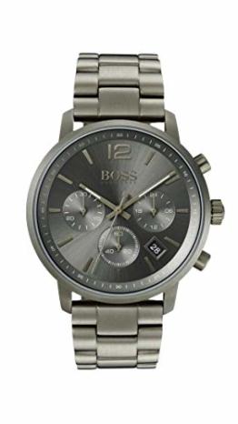Hugo Boss Watch Herren Chronograph Quarz Uhr mit Edelstahl Armband 1513610 - 1