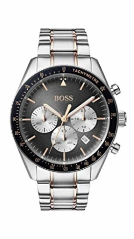 Hugo Boss Watch Herren Chronograph Quarz Uhr mit Edelstahl Armband 1513634 - 1