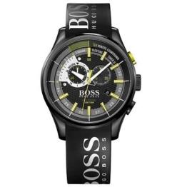 Hugo Boss Yachting Timer Chronograph Herren Uhr Edelstahl Datum schwarz 1513337