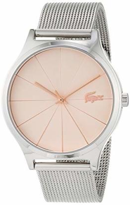 Lacoste Damen Analog Quarz Uhr mit Edelstahl Armband 2001042 - 1