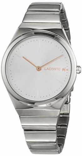 Lacoste Damen Analog Quarz Uhr mit Edelstahl Armband 2001054 - 1