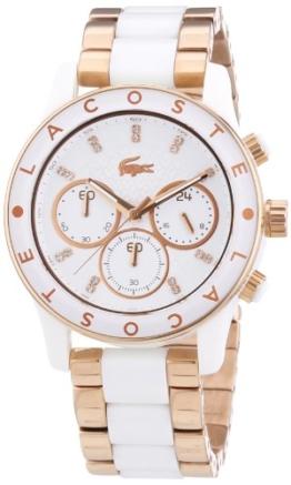 Lacoste Damen-Armbanduhr Analog Quarz verschiedene Materialien 2000804 - 1