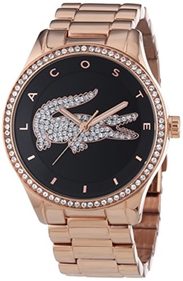 Lacoste Damen-Armbanduhr VICTORIA Analog Quarz Edelstahl beschichtet 2000871 - 1