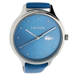 Lacoste Damen Datum klassisch Quarz Uhr mit Leder Armband 2001006 - 1