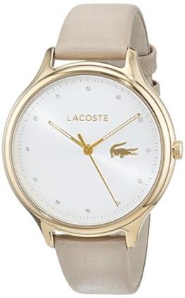 Lacoste Damen Datum klassisch Quarz Uhr mit Leder Armband 2001007 - 1