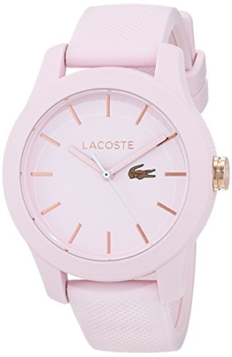 Lacoste Damen Datum klassisch Quarz Uhr mit Silikon Armband 2001003 - 1