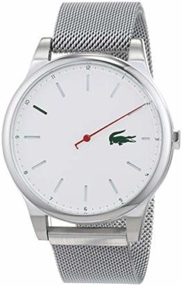 Lacoste Herren Analog Quarz Uhr mit Edelstahl Armband 2010969 - 1