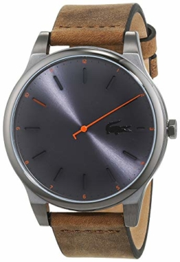 Lacoste Herren Analog Quarz Uhr mit Leder Armband 2010968 - 1