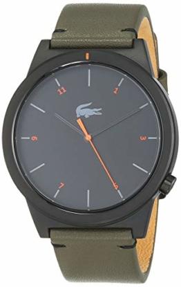 Lacoste Herren Analog Quarz Uhr mit Leder Armband 2010991 - 1
