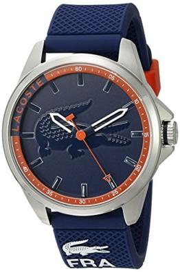 Lacoste Herren Analog Quarz Uhr mit Silikon Armband 2010842 - 1