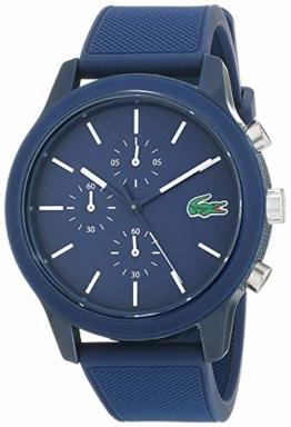 Lacoste Herren Chronograph Quarz Uhr mit Silikon Armband 2010970 - 1