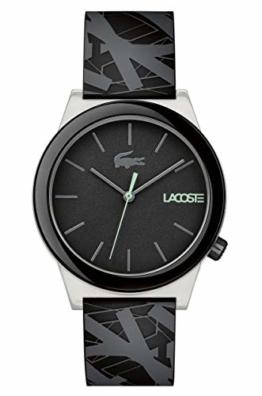 Lacoste Herren Datum klassisch Quarz Uhr mit Silikon Armband 2010937 - 1