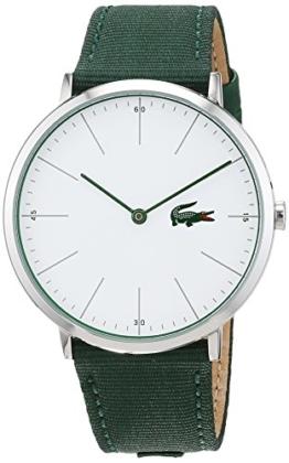 Lacoste Herren Datum klassisch Quarz Uhr mit Stoff Armband 2010913 - 1