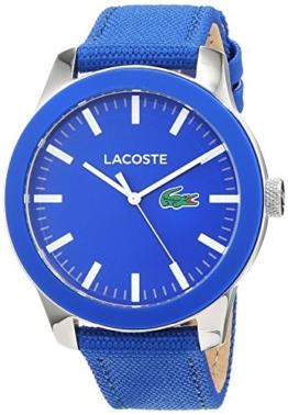 Lacoste Herren Datum klassisch Quarz Uhr mit Stoff Armband 2010921 - 1