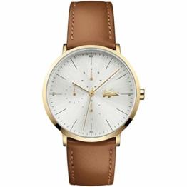 Lacoste Herren Multi Zifferblatt Quarz Uhr mit Leder Armband 2010977 - 1