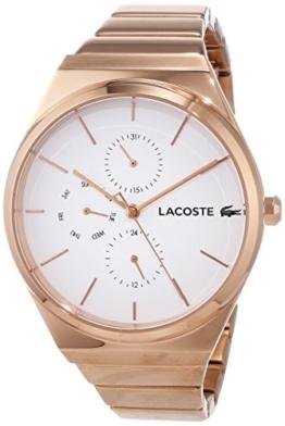 Lacoste Unisex Analog Quarz Uhr mit Edelstahl Armband 2001036 - 1