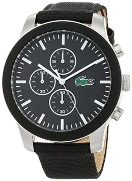 Lacoste Unisex Chronograph Quarz Uhr mit Stoff Armband 2010950 - 1