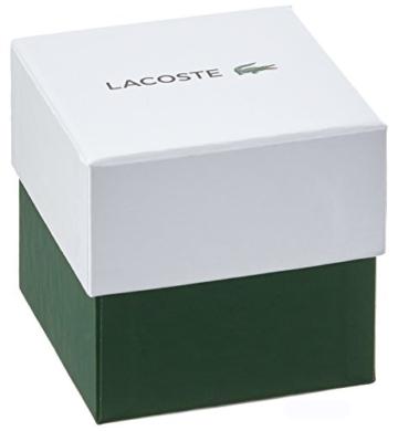 Lacoste Unisex Datum klassisch Quarz Uhr mit Silikon Armband 2020124 - 3