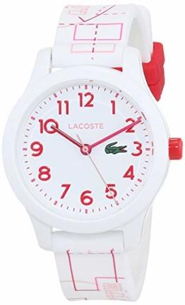 Lacoste Unisex Kinder Analog Quarz Uhr mit Silikon Armband 2030009 - 1