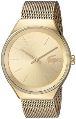 Lacoste Valencia Damen-Armbanduhr 38mm Armband Edelstahl Gold Quarz 2000952 - 1