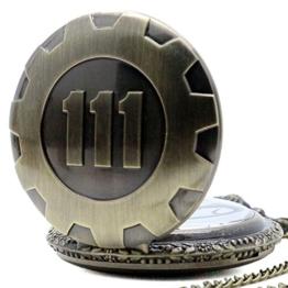 PriMI – Taschenuhr im Retro-Stil, Quarz-Uhrwerk, Taschenuhr, Fallout 4,Anhänger, Vault 111,Bronze - 1