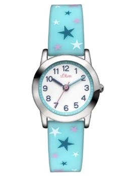 s.Oliver Mädchen-Armbanduhr Analog Quarz Silikon SO-2896-PQ - 1