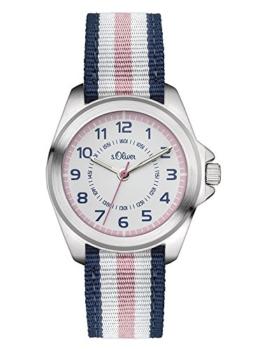 S.Oliver Mädchenuhr Analog Quarz Armbanduhr SO-3133-LQ - 1