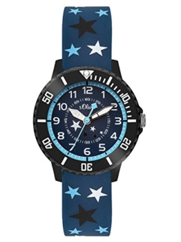 s.Oliver Time Jungen Zeitlernuhr Quarz Uhr mit Silikon Armband SO-3407-PQ - 1