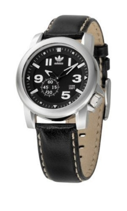 Adidas adh1183Edelstahl Unisex Leder Armband Analog Uhr - 1