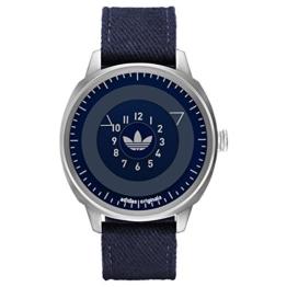 Adidas ADH3131 SAN FRANSICO Uhr Herrenuhr Lederarmband Edelstahl 10 bar Analog blau - 1